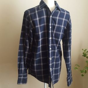 J.crew Tailored Blue Plaid Button Down Shirt Small
